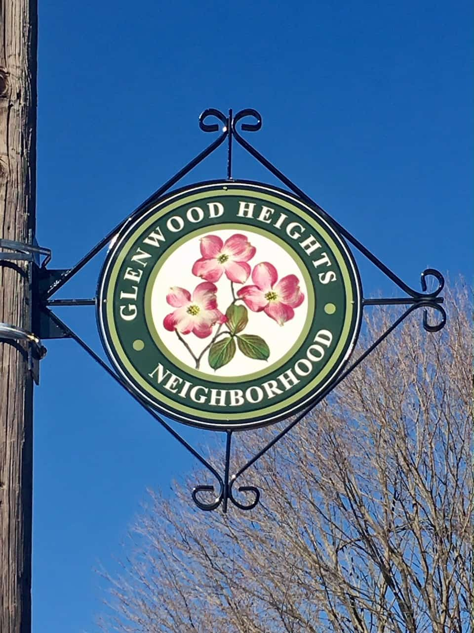 Glenwood Heights neighborhood sign