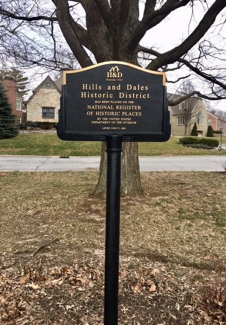 Hills and Dales Historic District Sign